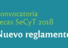Becas SeCyT: apertura de convocatoria y nuevo reglamento